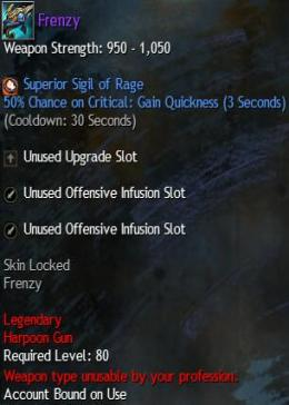 Cheap Guild War 2 Legendary Weapons Frenzy