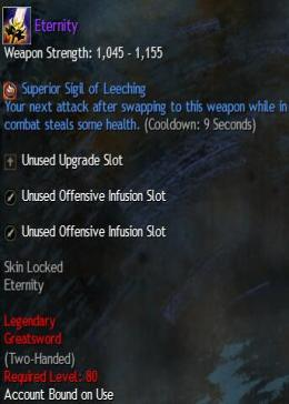 Cheap Guild War 2 Legendary Weapons Eternity