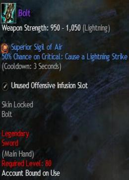 Cheap Guild War 2 Legendary Weapons Bolt