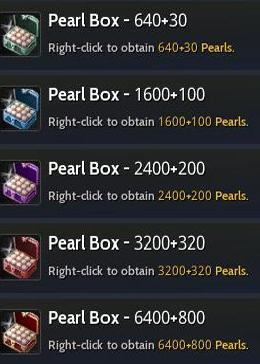 Cheap Black Desert Online(SEA) PC Pearl Box1-1600+100