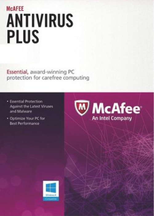Cheap Software  McAfee Antivirus 1 PC 1 YEAR Global