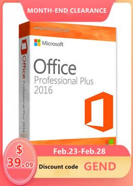Cheap Software  Office2016 Professional Plus Global CD Key(End of Month Sale)