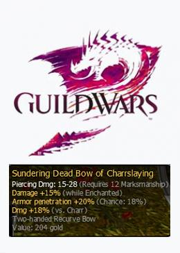Cheap Guild Wars Pre-Searing Items Sundering Dead Bow of Charrslaying