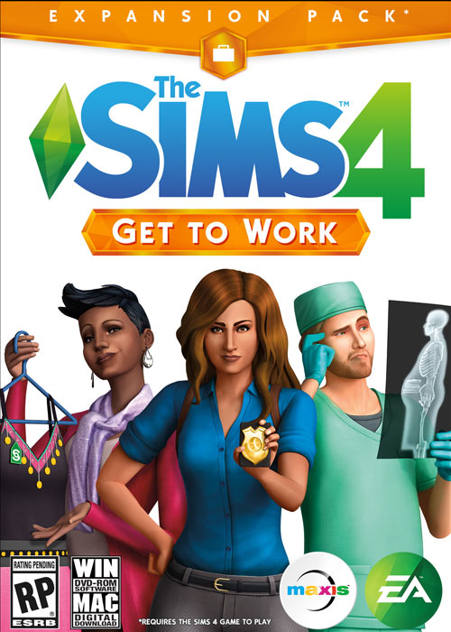 Cheap Origin Games  The Sims 4 Get To Work Origin CD Key