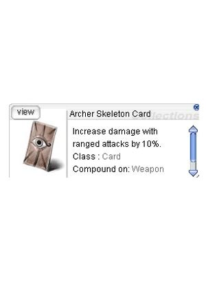 Cheap Ragnarok Online(US) Chaos ZBPK-05 Archer Skeleton Card *10