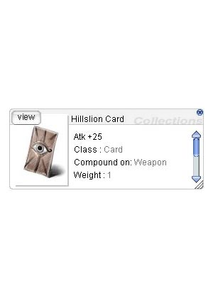 Cheap Ragnarok Online(US) Chaos ZBPK-18 Hillslion Card *10