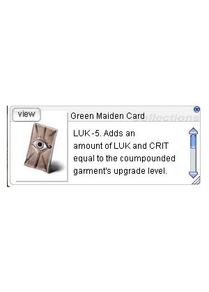 Cheap Ragnarok Online(US) Chaos ZBPK-19 Green Maiden Card *5