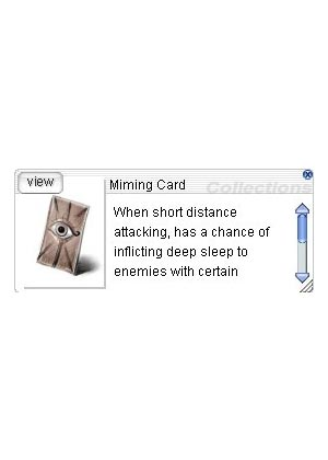 Cheap Ragnarok Online(US) Chaos ZBPK-22 Miming Card *10
